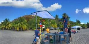 Matériel de tournage aux Antilles